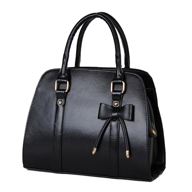 high-grade-women-faux-leather-executive-bag-with-magnetic-clasp-black