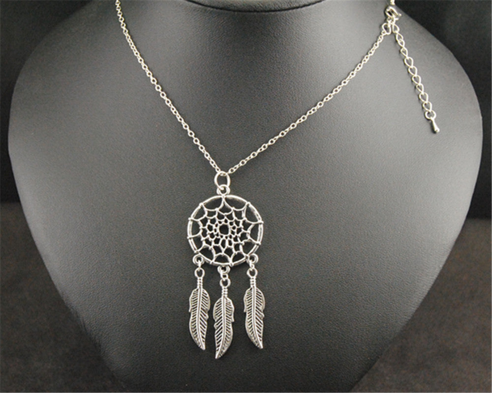 tibetan-silver-metal-net-dream-catcher-pendant-diy-handmade-jewelry-maxi-necklace-pretty