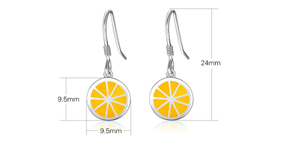 Round Orange Drop Earrings - Healthy and Fresh!