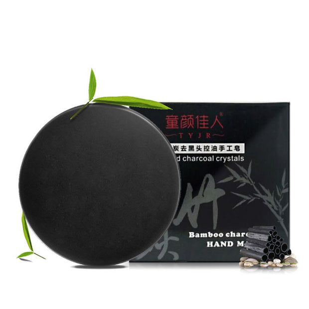Soap: Natural Skin Bamboo Charcoal Whitening Blackhead Remover