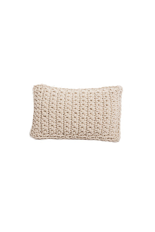 Crochet Flower Rectangular Pillow