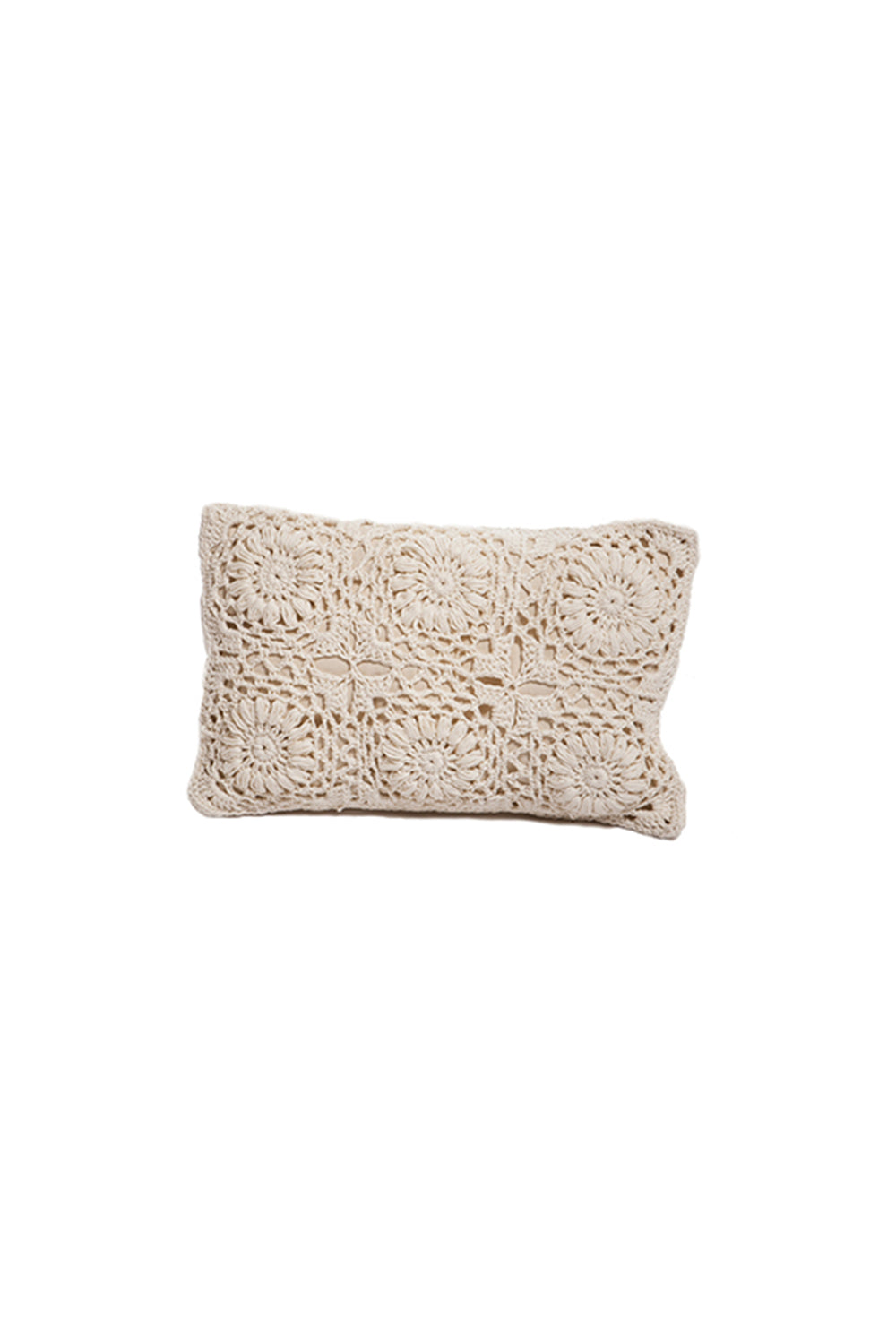 Carolina K Crochet Flower Rectangular Pillow