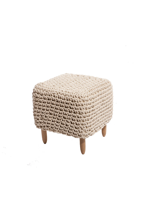 SQUARE CROCHET STOOL
