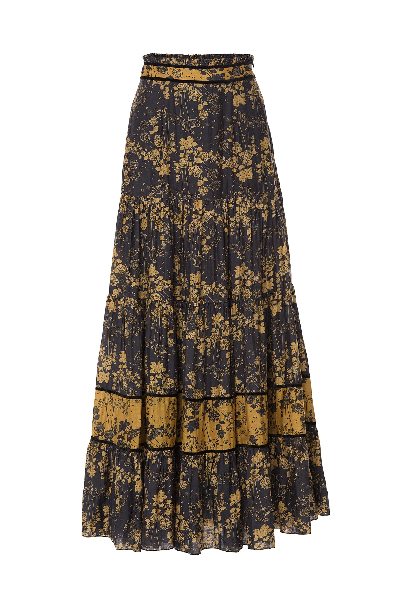 Carolina K Catalina Skirt Tumeric Roses