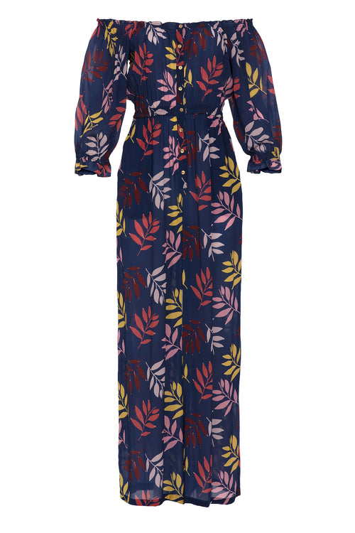 Carolina K Alexa Jumpsuit Navy Foliage