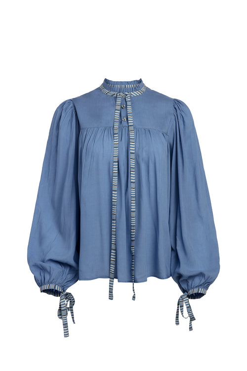 Carolina K Vicki Blouse in Allure Blue
