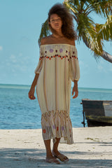 Carolina K Charo Dress in Cream