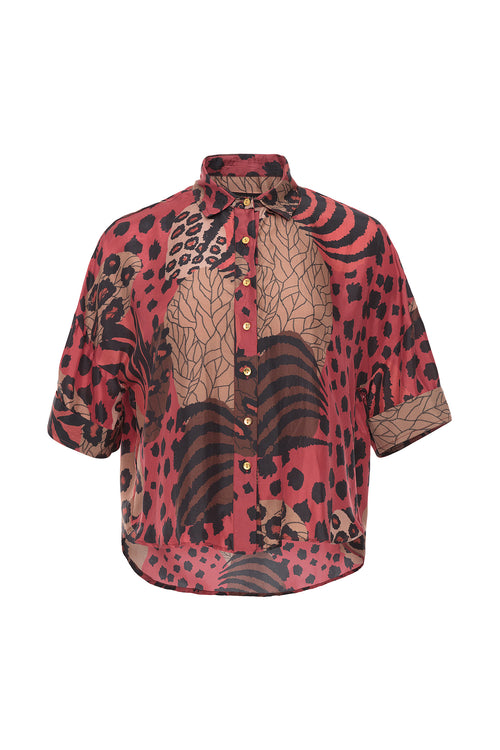 Carolina K Crop Blouse Haute Jungle