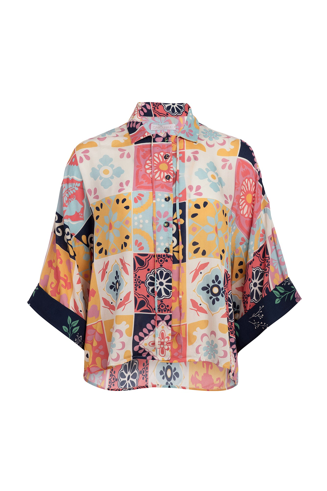 Carolina K Kimono Top Terracotta Tile Multi