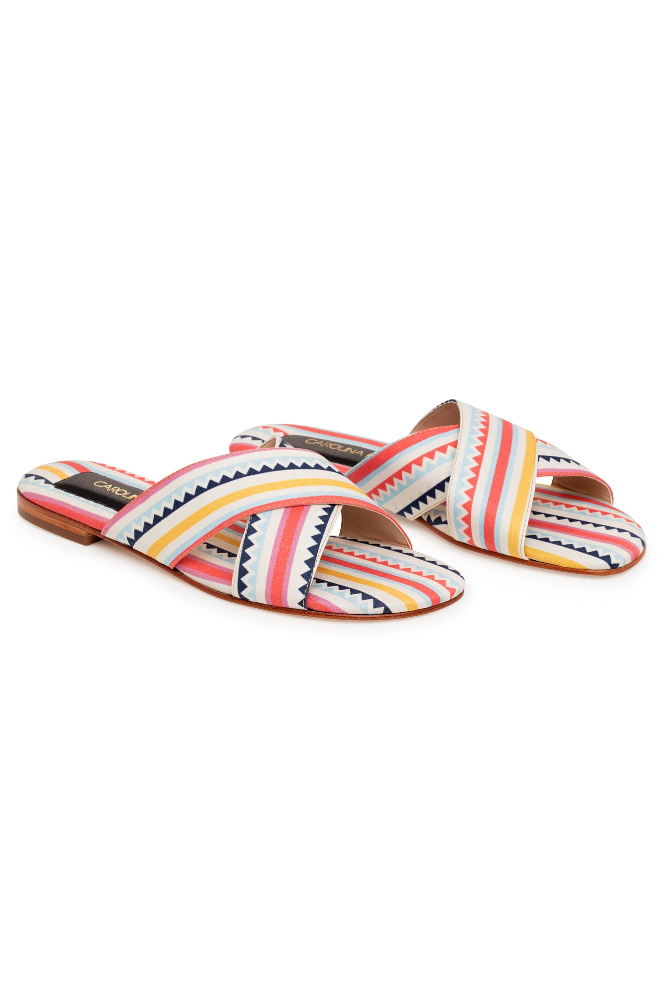 Carolina K Cross Sandal in Multi Triangles