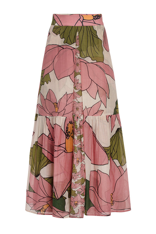 Carolina K Barbarella Skirt Lotus Flower Pink
