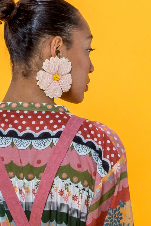 Carolina K Huichol Earrings in Cream
