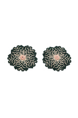 Carolina K Huichol Earrings in Green