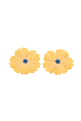 Carolina K Huichol Earrings in Yellow