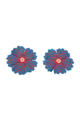 Carolina K Huichol Earrings in Blue