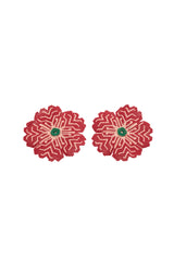 Carolina K Huichol Earrings in Red