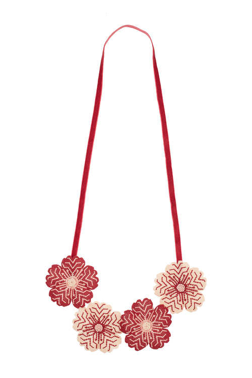 Carolina K Huichol Flowers Necklace