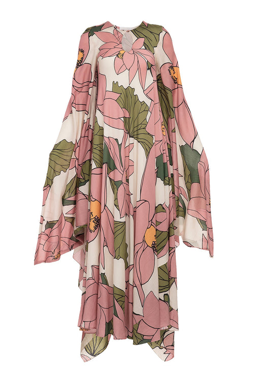 Carolina K Joni Kaftan Lotus Flower Pink