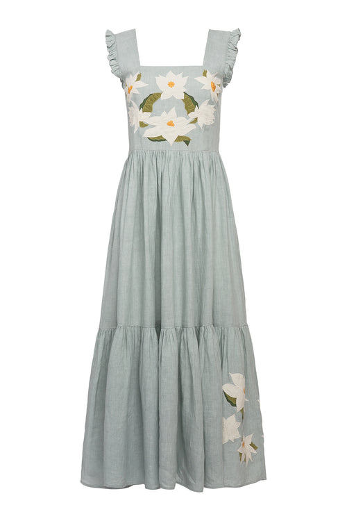 Carolina K Kuna Dress Sky Gray