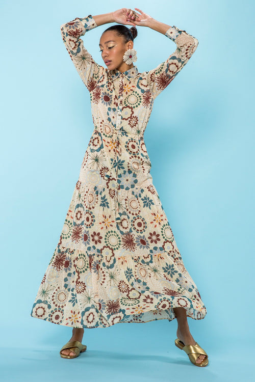 Carolina K Natalie Dress in Flower Power