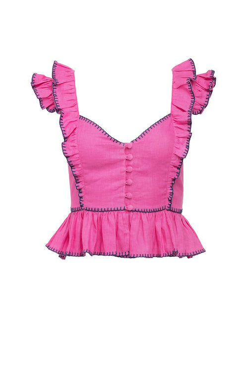 Carolina K Peasant Top Pink