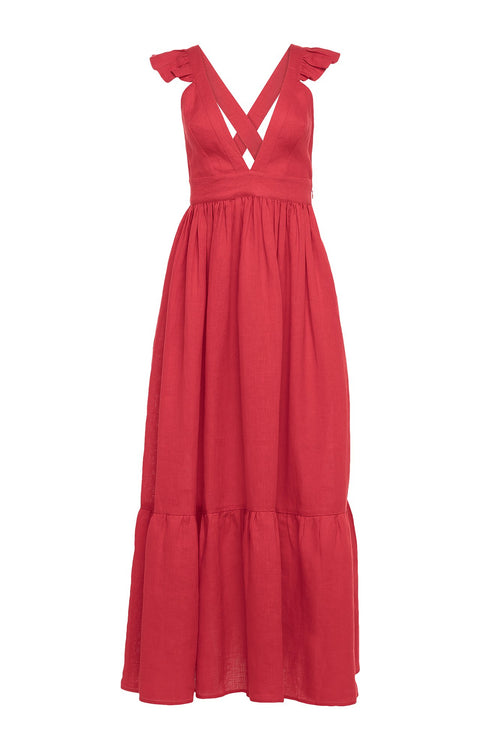 Carolina K Penelope Dress in Red
