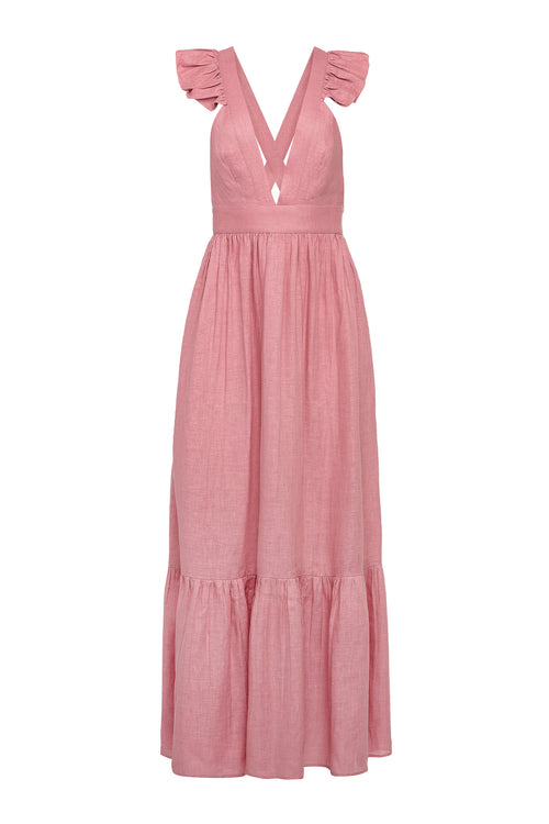 Carolina K Penelope Dress in Rose