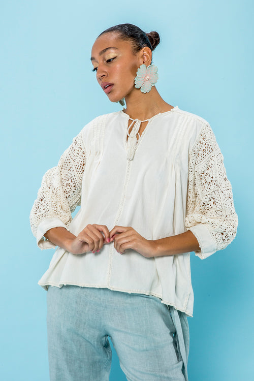 Carolina K San Juan Blouse in Cream