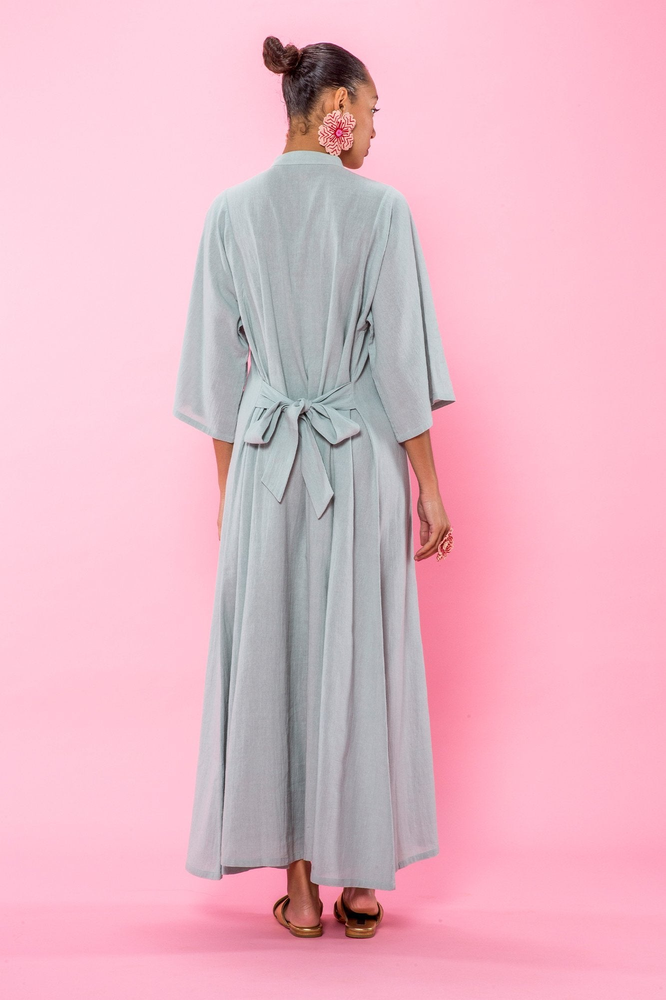 Carolina K Saturday Kaftan in Sky Gray