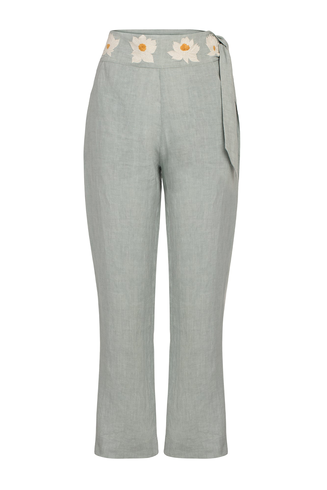 Carolina K Straight Pants in Sky Gray