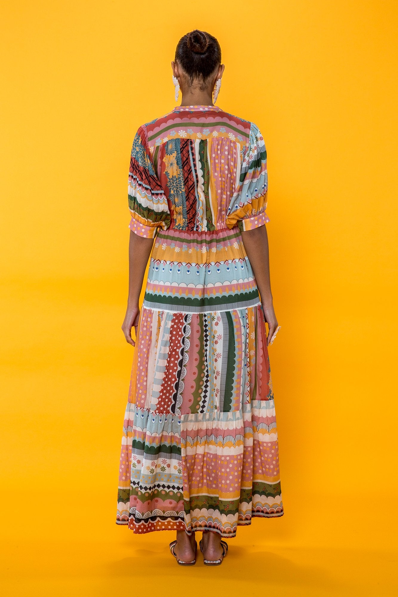 Carolina K Tarahumara Dress in Multi Stripe
