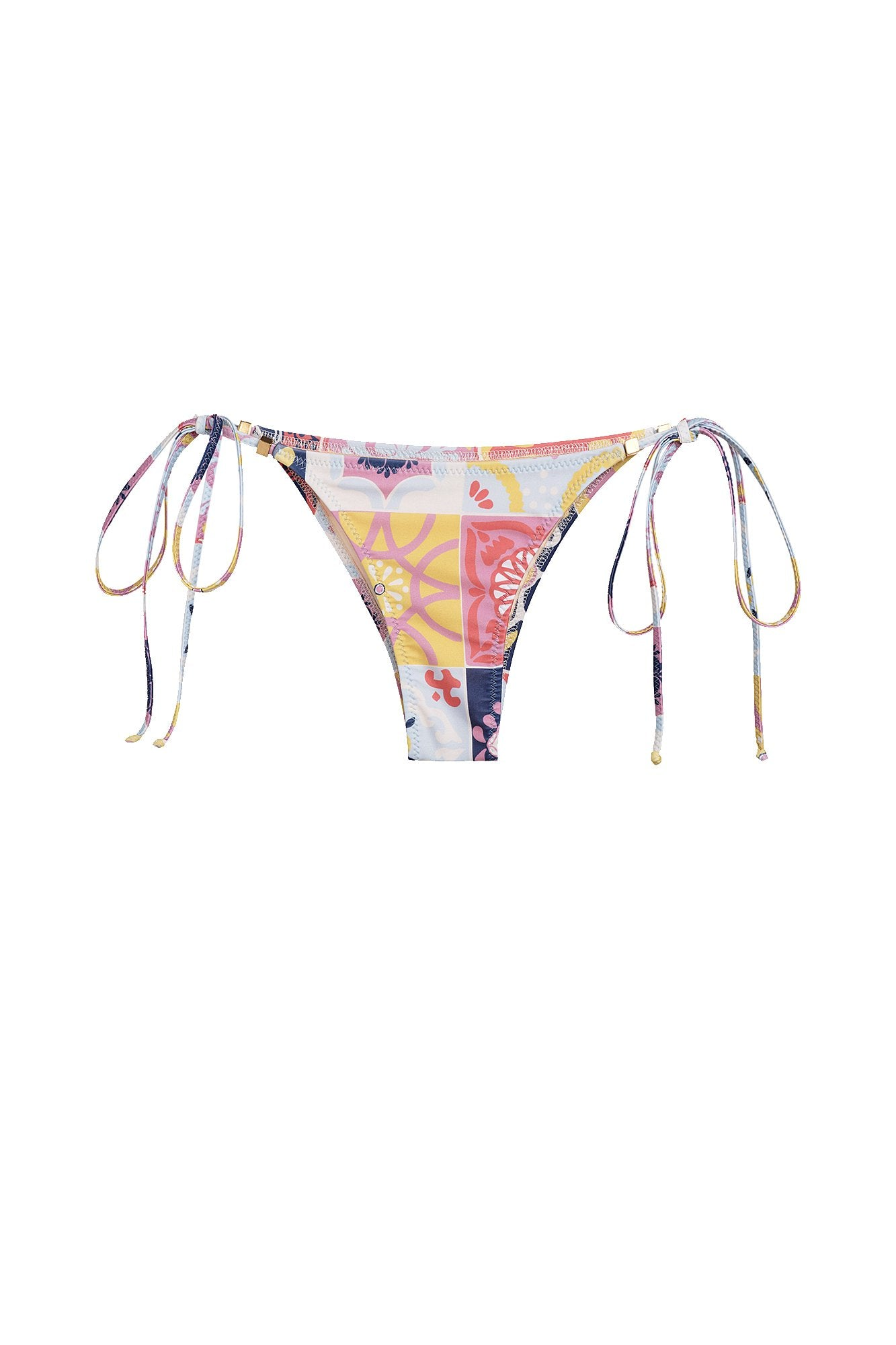 Carolina K Gabriela Bikini Bottom in Terracotta Tile Multi