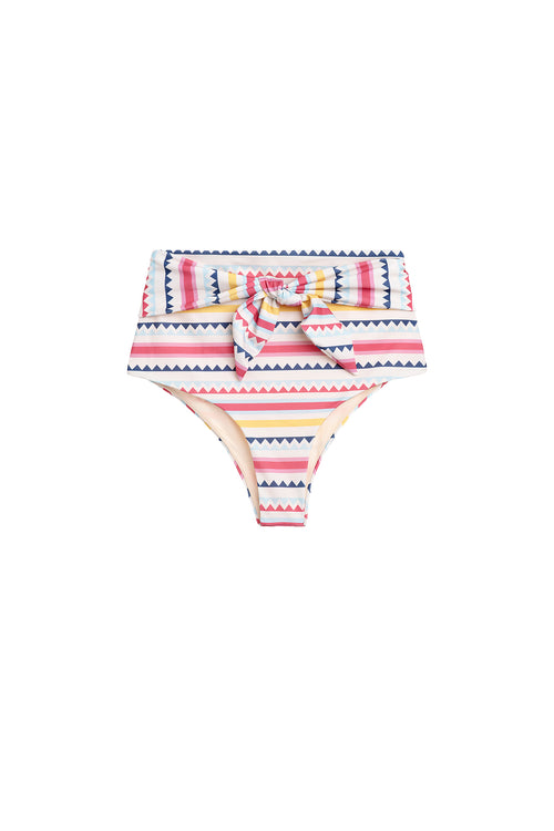 Carolina K Iris Bikini Bottom in Multi Triangles