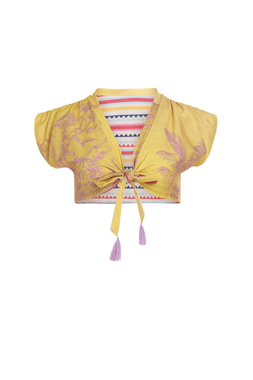 Carolina K Nina Bikini Top Reversible Sunset Yellow
