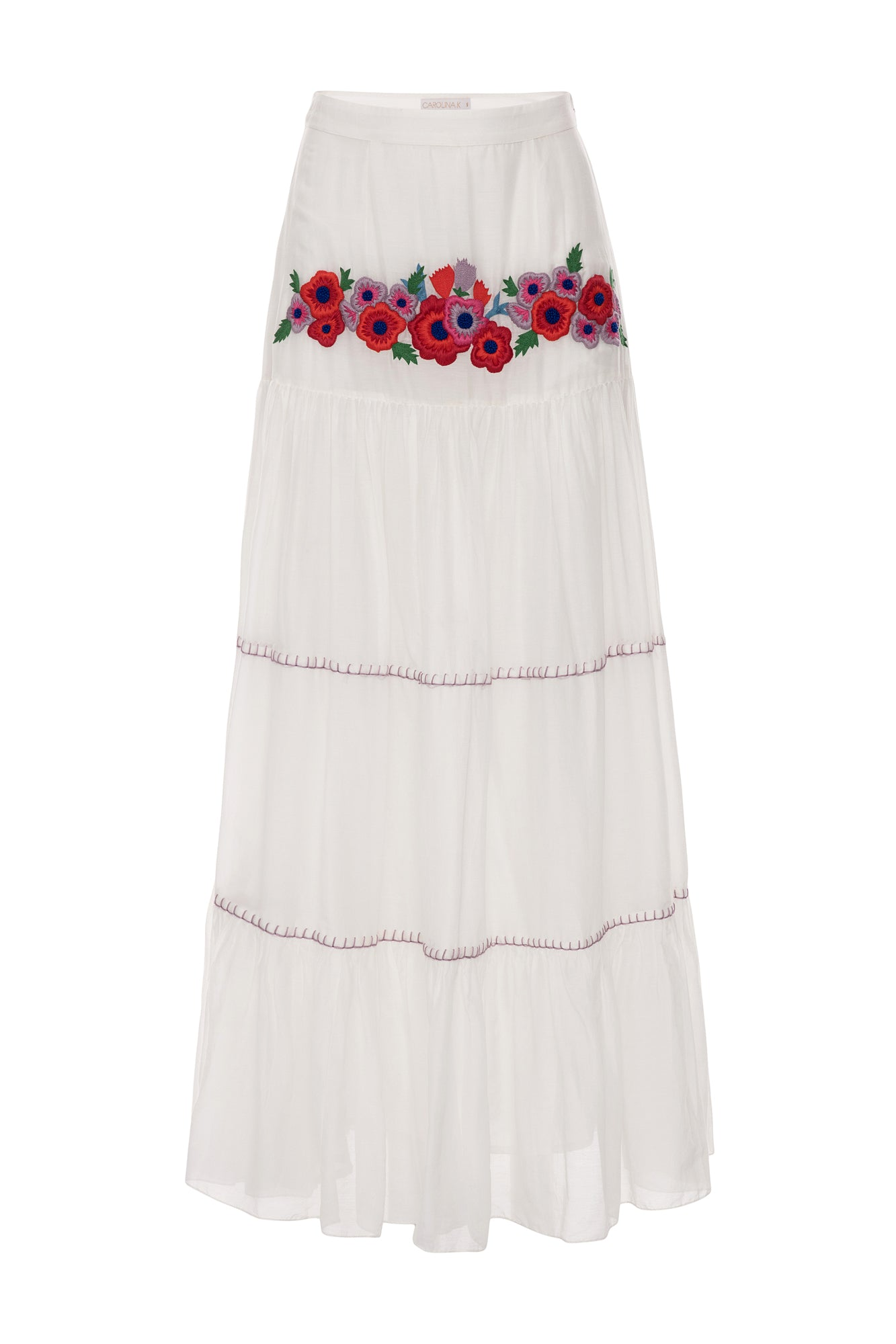 Carolina K Iris Skirt White