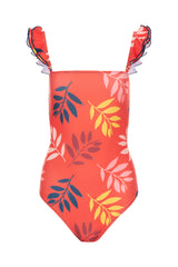 Carolina K Carolina K Kuna One Piece Swimsuit Red Foliage