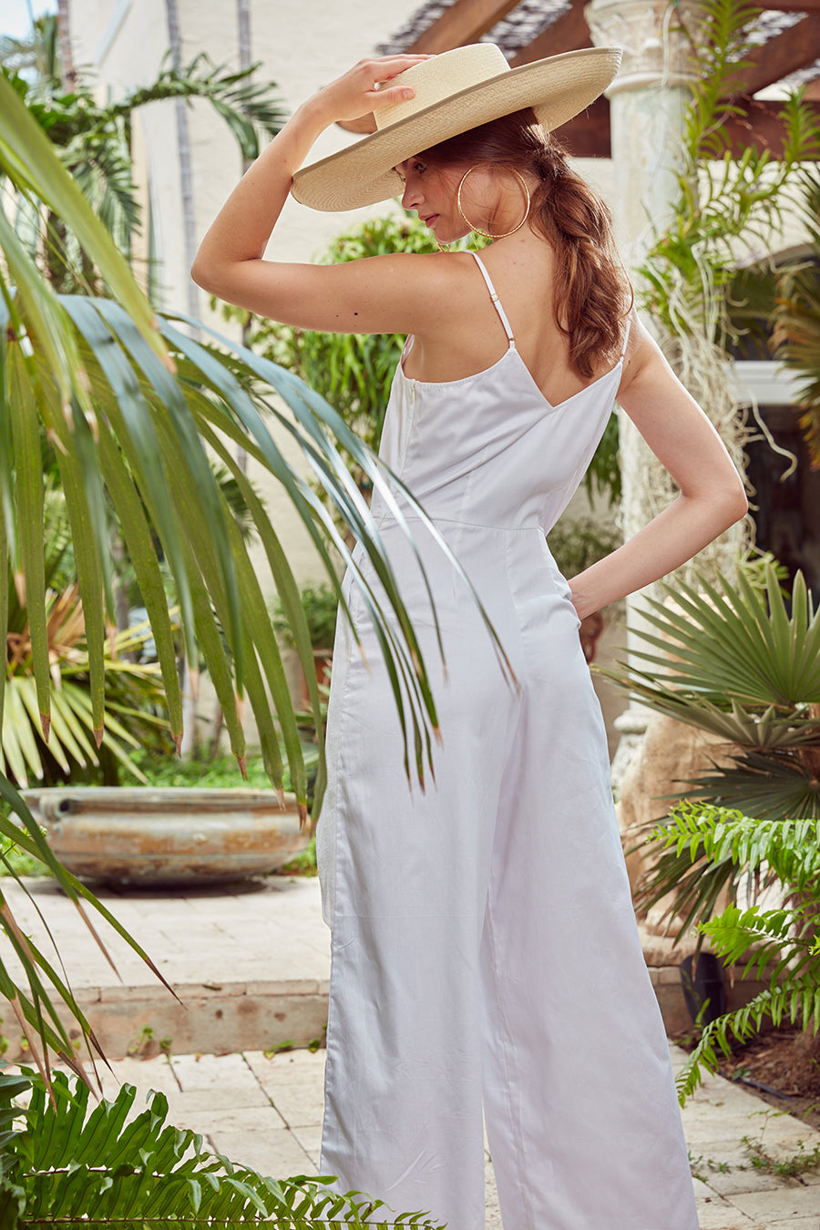 Carolina K Bermuda Jumpsuit White