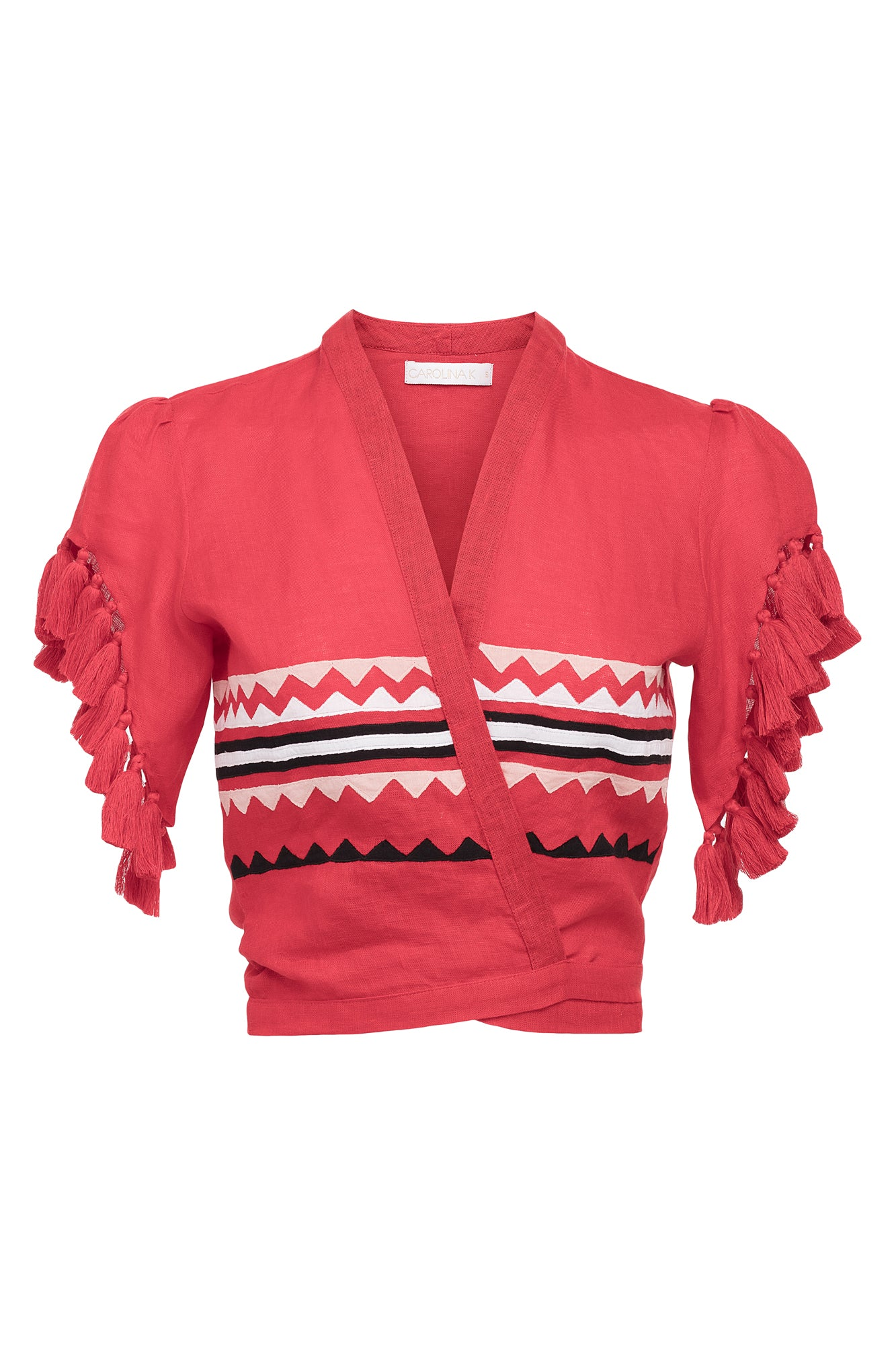 Carolina K Dani Top Red Triangles