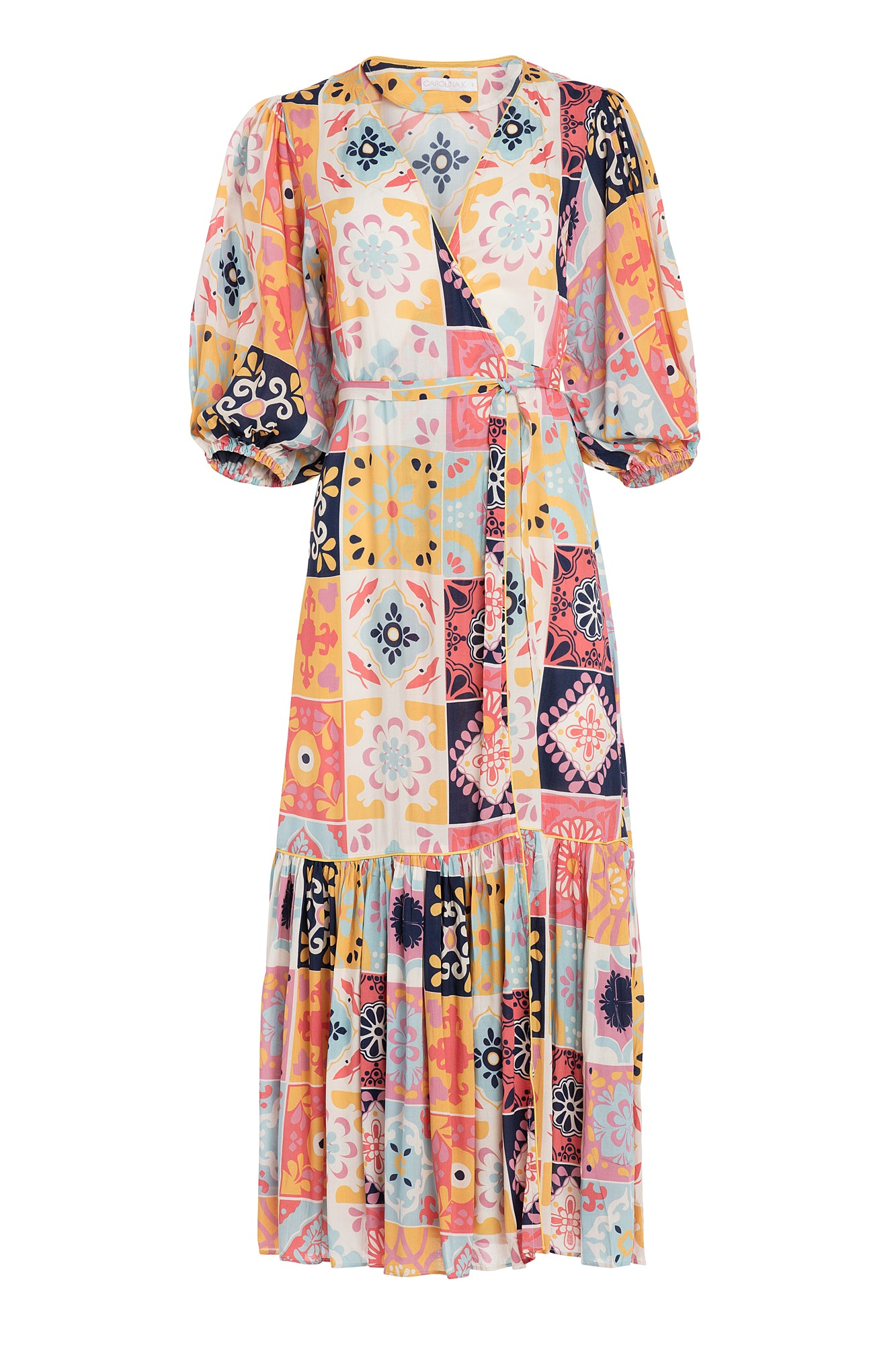 Carolina K Debra Robe in Terracotta Tile Multi