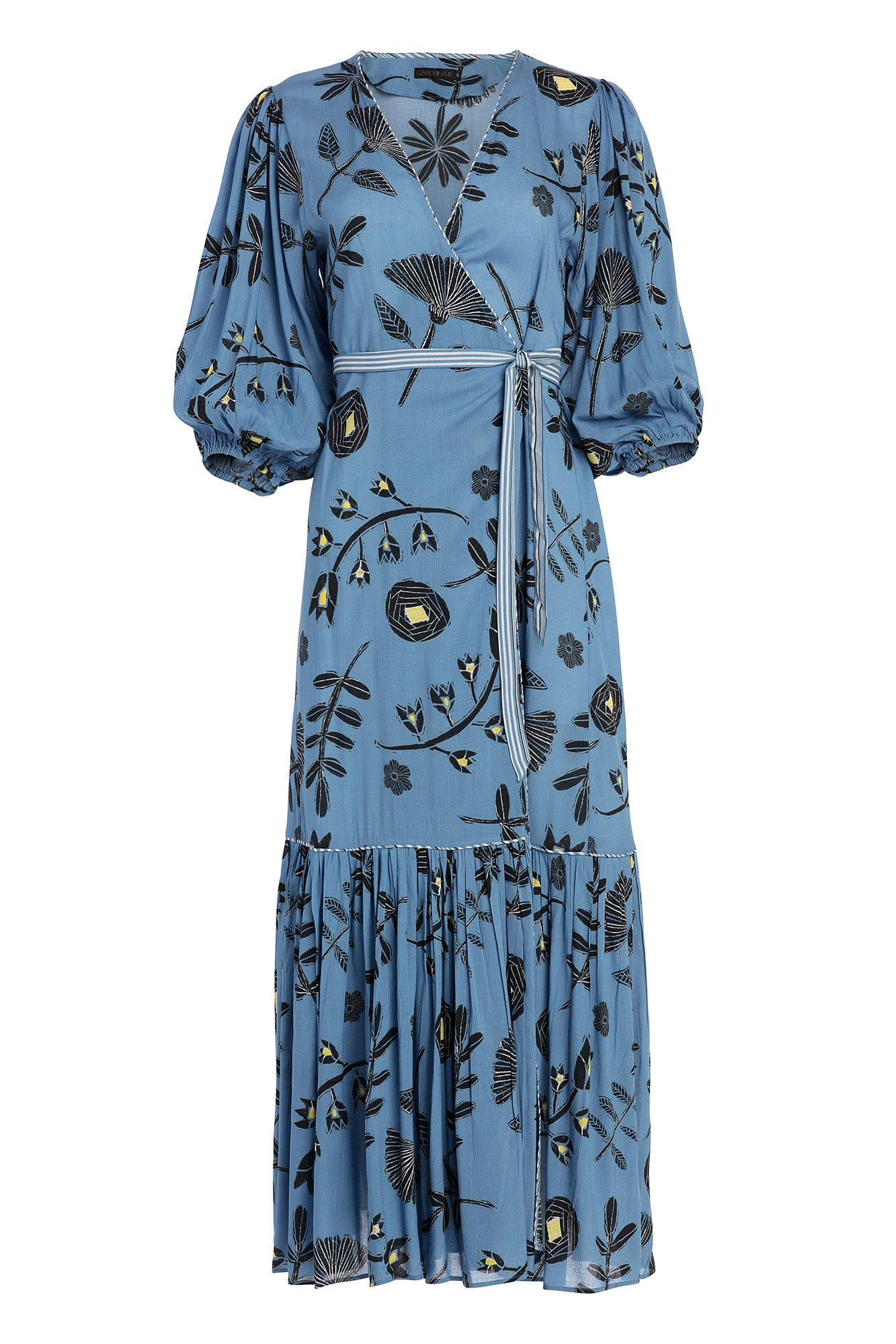 Carolina K Debra Robe in Blue Tea Flowers