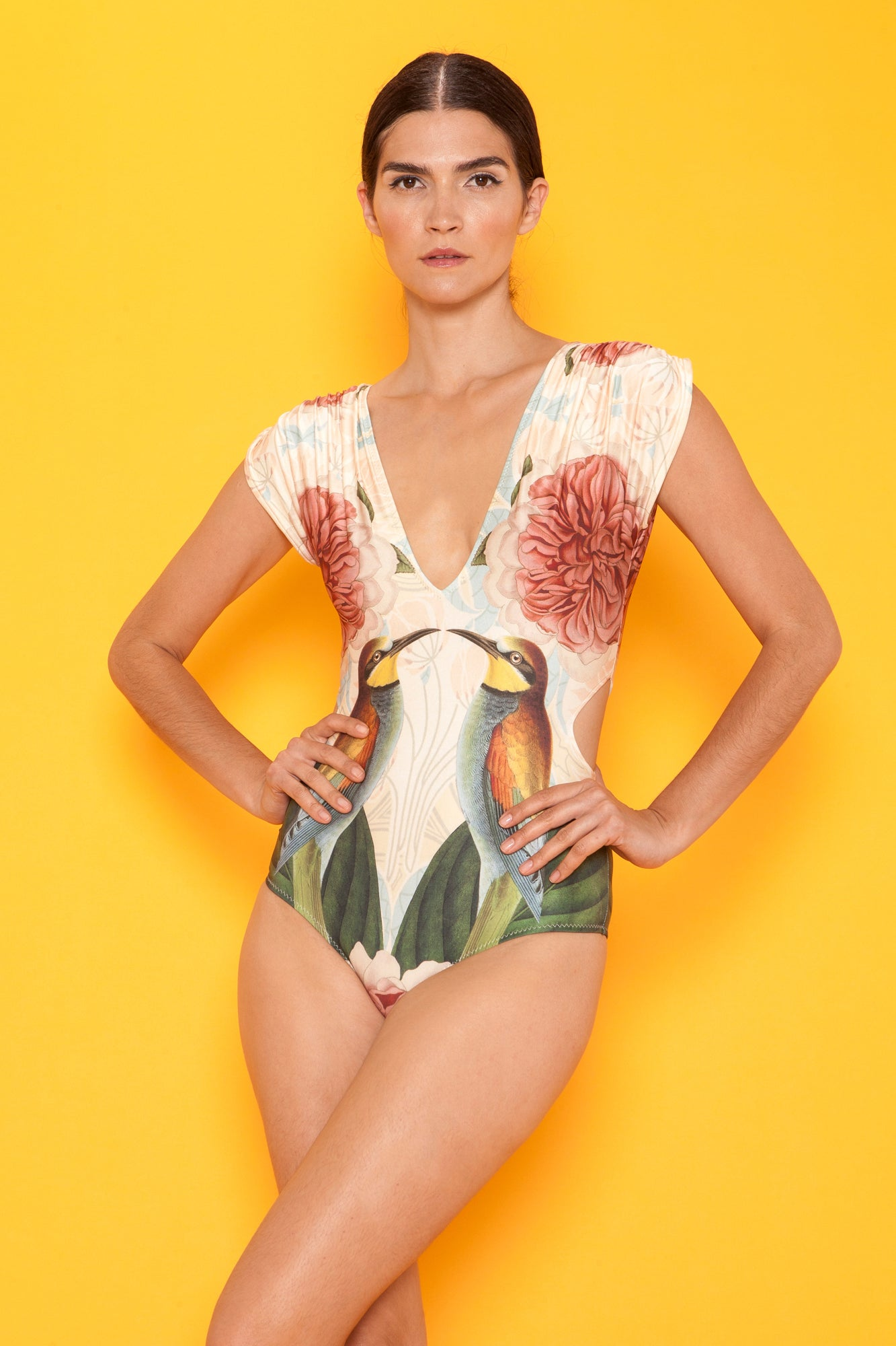 Carolina K Liset One Piece Swimsuit Fauna Birds