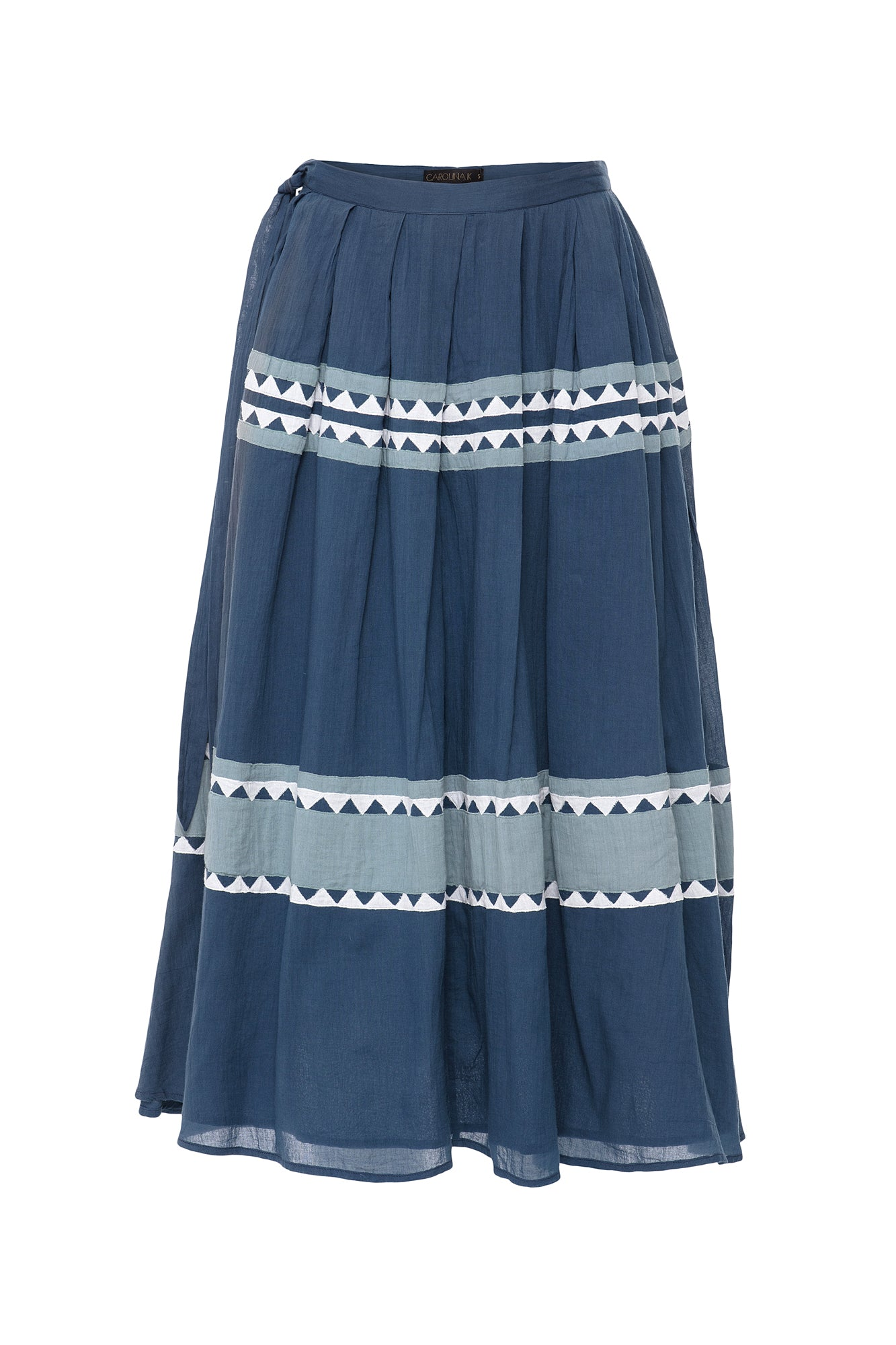 Carolina K Rosa Skirt Indigo/Triangles