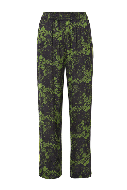 Carolina K Lou Pants Green Roses