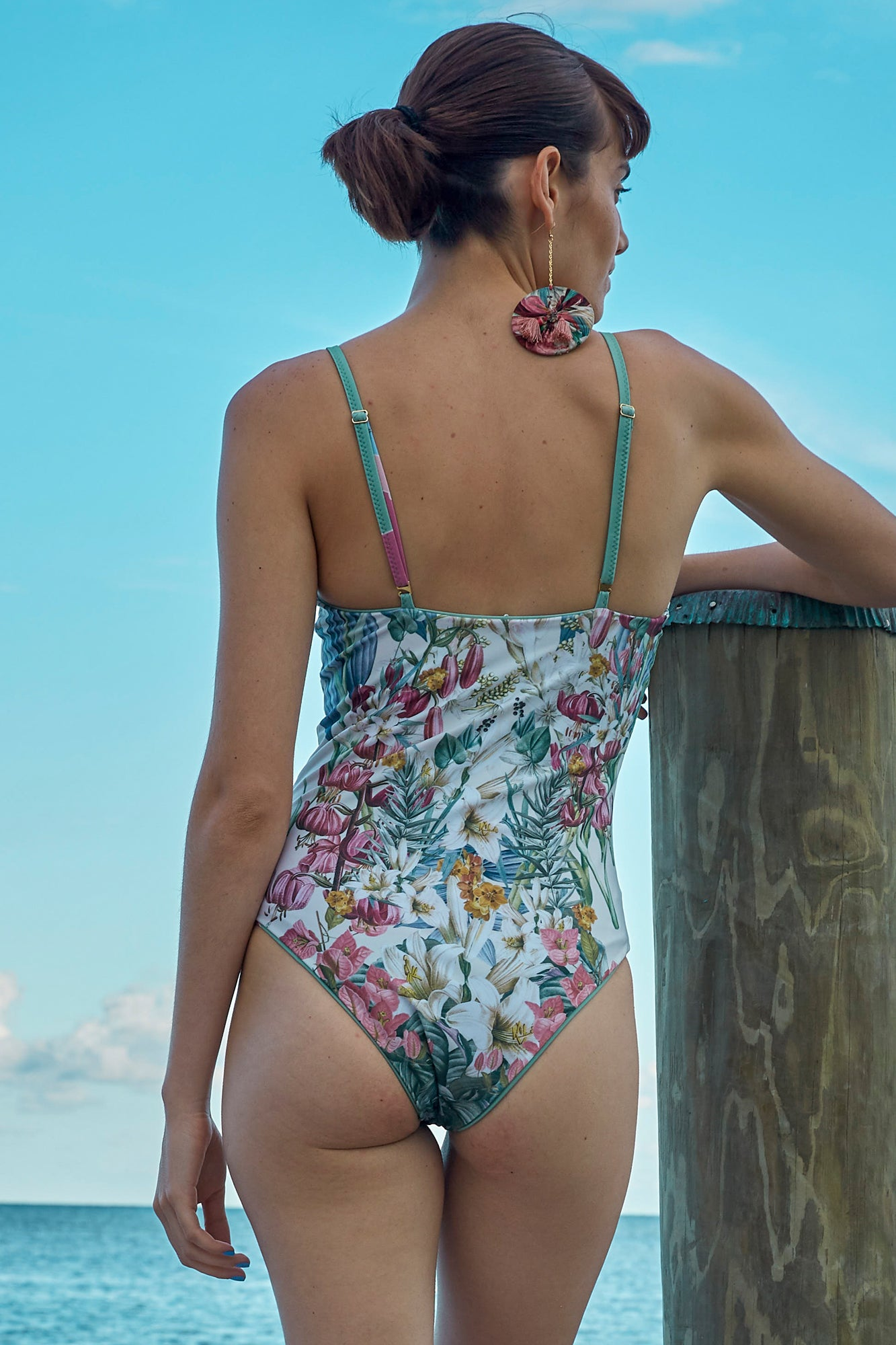 Carolina K Marieta One Piece in Sacred Garden Blue