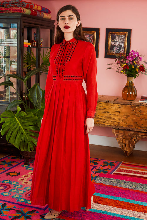 Carolina K Monica Dress Red