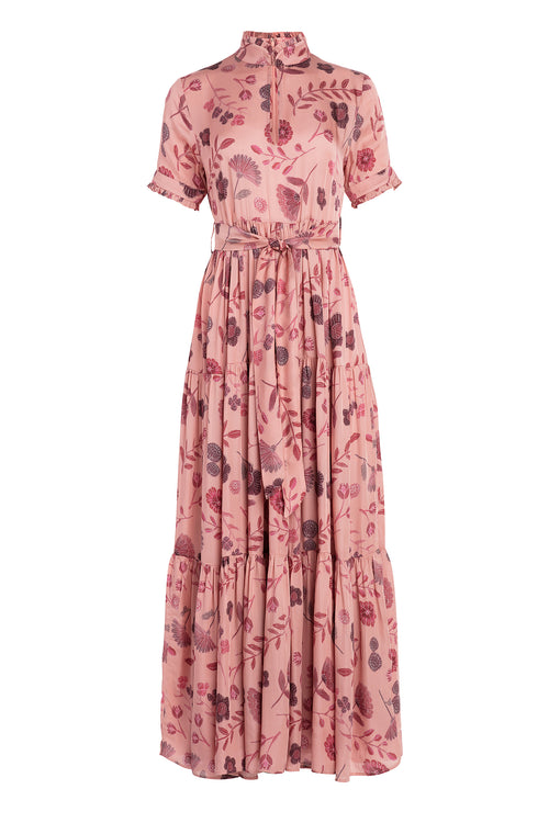 Carolina K Mira Dress in Pink Tea Flowers