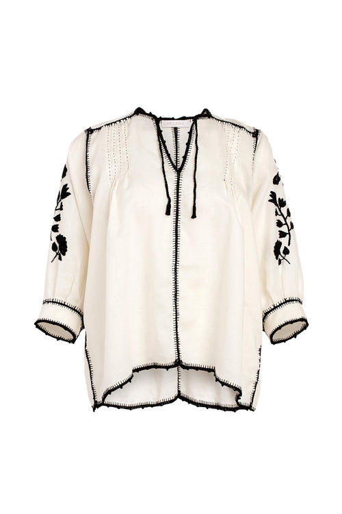 Carolina K Oaxaca Blouse in White