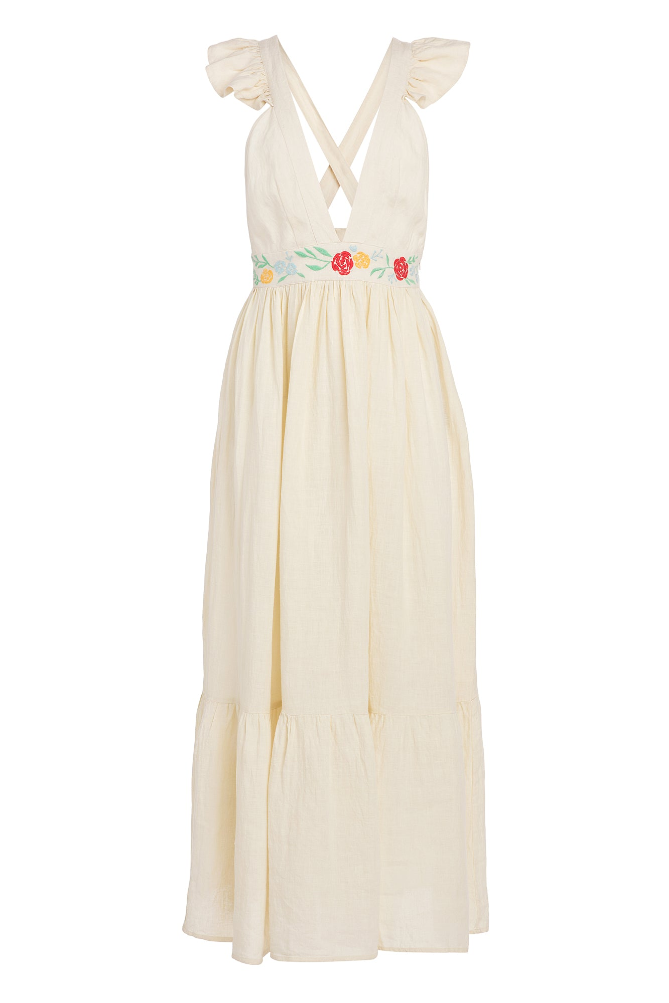 Carolina K Penelope Dress in Cream Peonies