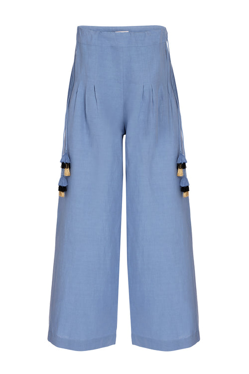 Carolina K Palazzo Pants in Allure Blue