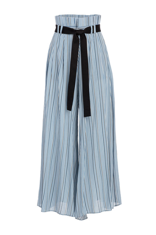 Carolina K Wesley Pant in Allure Blue Stripes